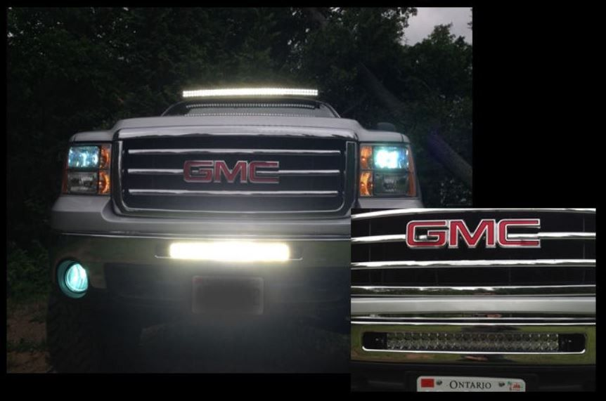 20 Inch Light Bar Bumper Bracket Only For 20075 2013 Gmc Sierra 1500
