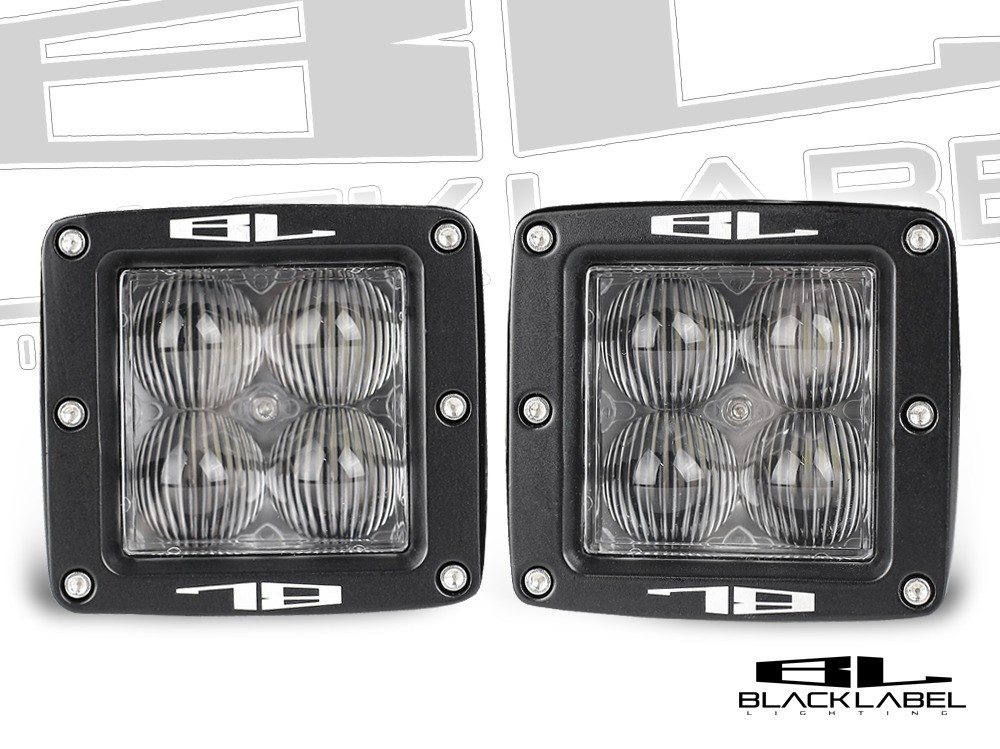 3 inch Black Label Lighting Dual LED Cube Kit in <b>Flood</b>