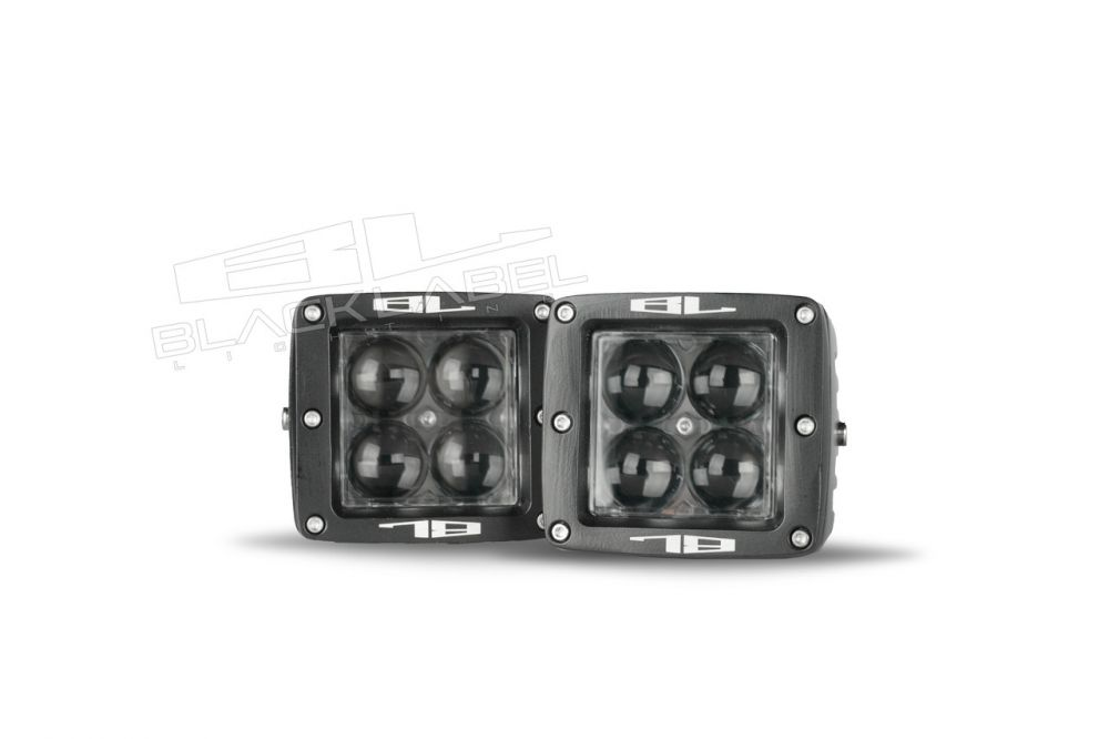 3 inch Black Label Lighting QUAD Cube Foglight Kit 2007-2013 Chevrolet Silverado