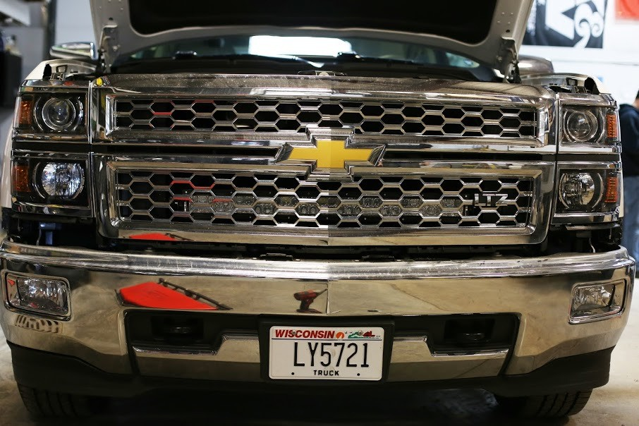 "Behind grille 30"" EMB (Bracket only) for 2014-2015 Chevrolet Silverado 1500 and 2500"