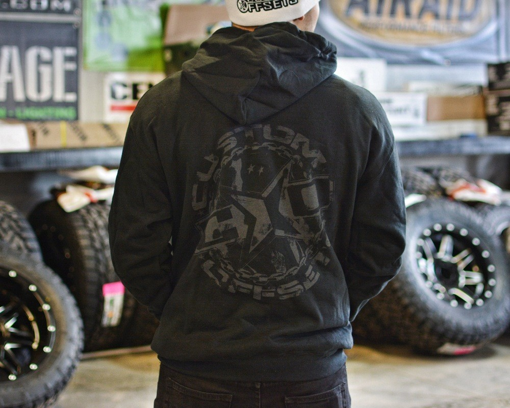Black w/ Grey Custom Offsets Hooded Sweatshirt
