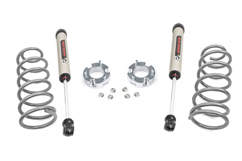 Anodized Red Rough Country 2-inch Suspension Lift Kit for Toyota 10-17 4Runner 4WD