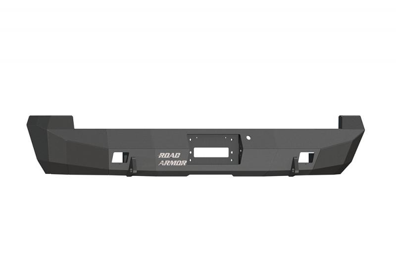 Road Armor Stealth Rear Winch Bumper - Texture Black   WARN M8000 or 9.5xp (00-07 GMC 2500/3500   03-07 Chevy 2500/3500)