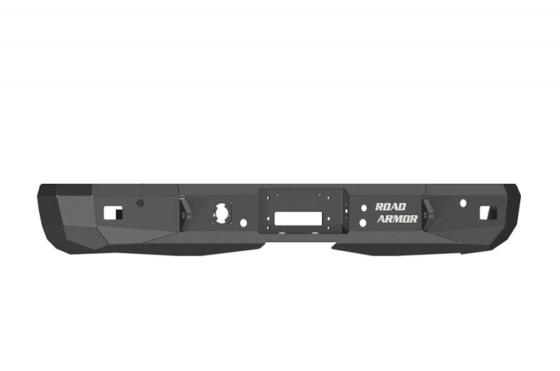 Road Armor Stealth Rear Winch Bumper - Texture Black | WARN M8000 or 9.5xp (08-13 Chevy/GMC 1500 | 11-14 2500/3500)