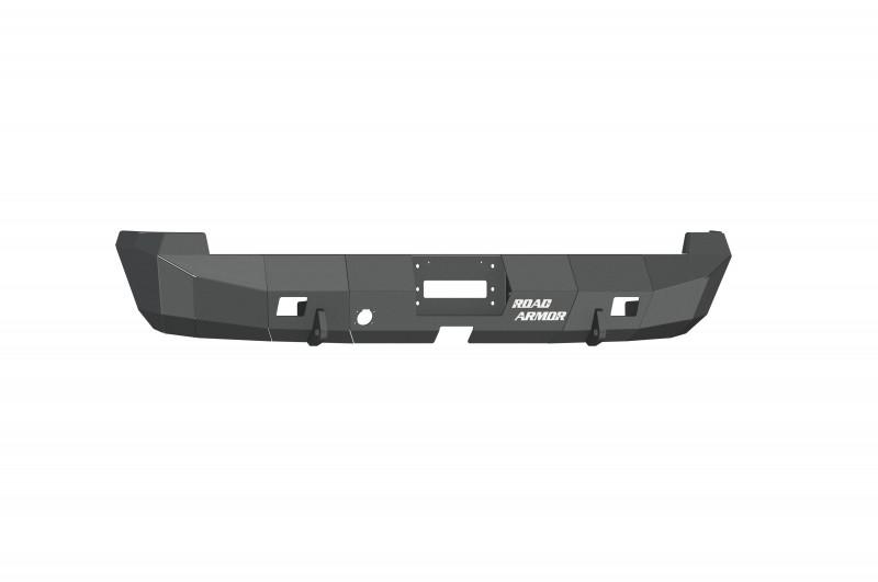 Road Armor Stealth Rear Winch Bumper - Texture Black   WARN M8000 or 9.5xp (02-08 Ram 1500   03-09 Ram 2500/3500)