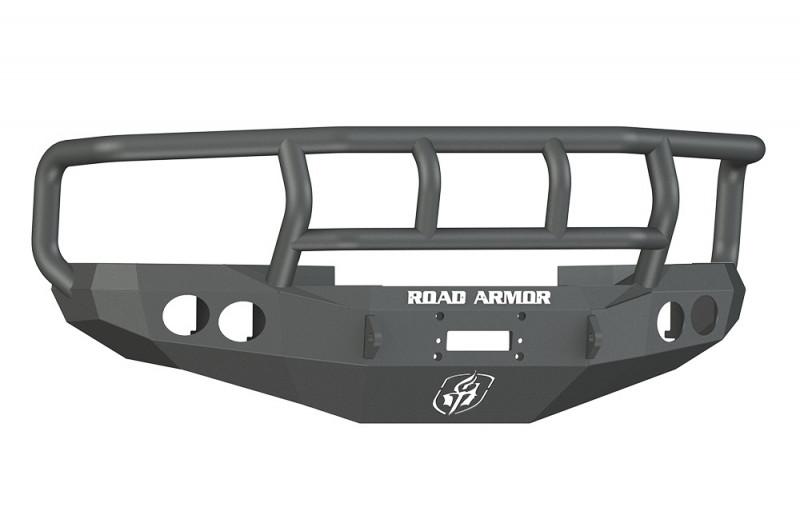 Road Armor Stealth Front Winch Bumper w/ Titan II Guard - Texture Black | WARN M12000/Smittybilt XRC (97-01 Ram 1500 | 97-02 Ram 2500/3500)
