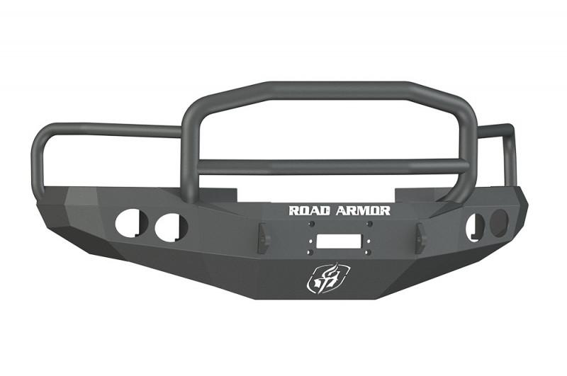 Road Armor Stealth Front Winch Bumper w/ Lonestar Guard - Texture Black | WARN M12000/Smittybilt XRC (97-01 Ram 1500 | 97-02 Ram 2500/3500)