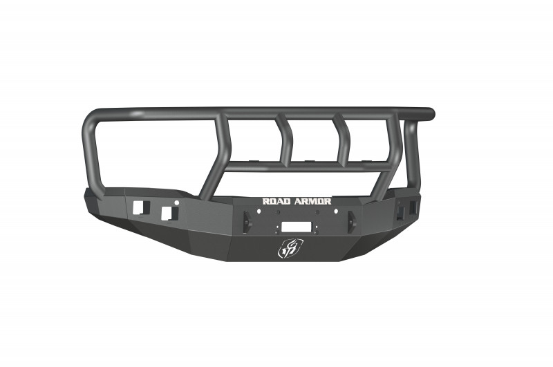 Road Armor Stealth Front Winch Bumper w/ Titan II Guard - Texture Black | WARN M12000/Smittybilt XRC (14-15 GMC 1500)