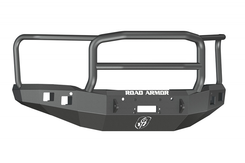 Road Armor Stealth Front Winch Bumper w/ Lonestar Guard - Texture Black   WARN M12000/Smittybilt XRC (14-15 GMC 1500)