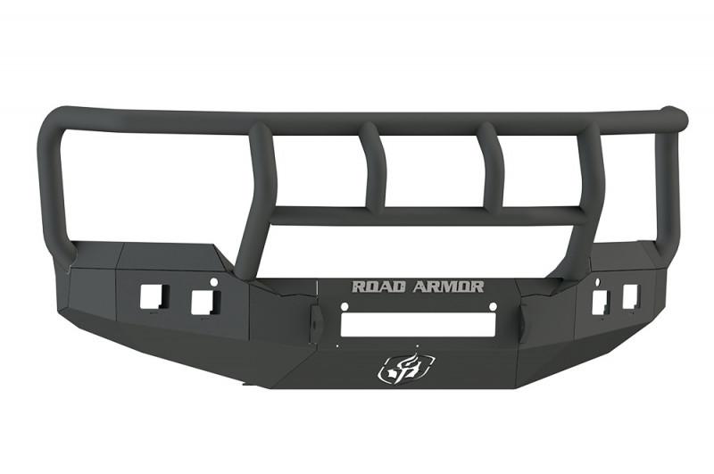 Road Armor Stealth Front Non-Winch Bumper w/ Titan II Guard - Texture Black (15-19 GMC 2500/3500)