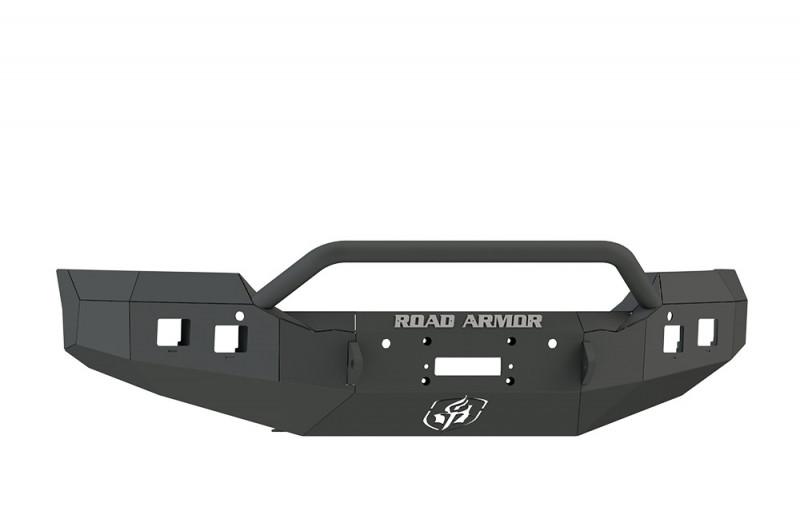 Road Armor Stealth Front Winch Bumper w/ Pre-Runner Guard - Texture Black | WARN M12000/Smittybilt XRC (15-19 GMC 2500/3500)