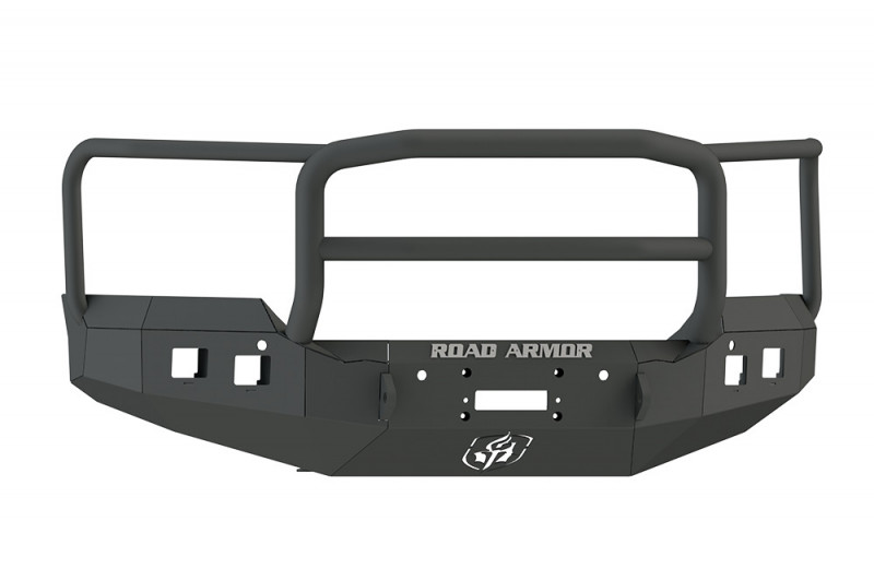 Road Armor Stealth Front Winch Bumper w/ Lonestar Guard - Texture Black   WARN M12000/Smittybilt XRC (15-19 GMC 2500/3500)