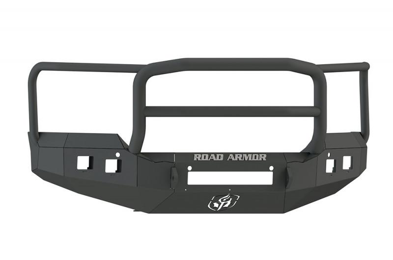 Road Armor Stealth Front Non-Winch Bumper w/ Lonestar Guard - Texture Black (15-19 GMC 2500/3500)