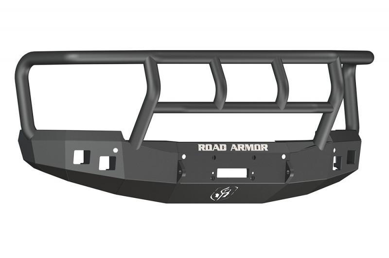 Road Armor Stealth Front Winch Bumper w/ Titan II Guard - Texture Black   WARN M12000/Smittybilt XRC (14-15 Chevy 1500)