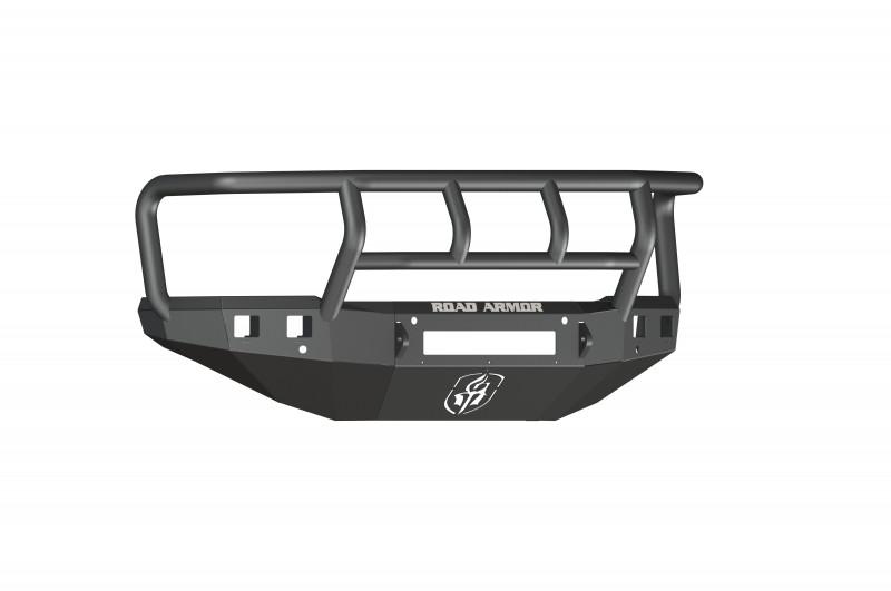 Road Armor Stealth Front Non-Winch Bumper w/ Titan II Guard - Texture Black (15-19 Chevy 2500/3500)