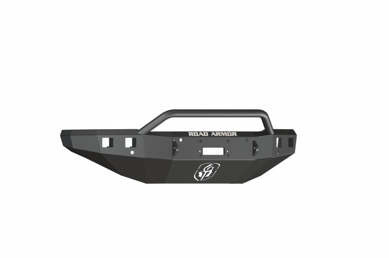 Road Armor Stealth Front Winch Bumper w/ Pre-Runner Guard - Texture Black | WARN VR12000 (15-19 Chevy 2500/3500)