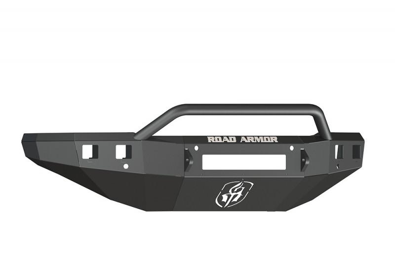 Road Armor Stealth Front Non-Winch Bumper w/ Pre-Runner Guard - Texture Black (15-19 Chevy 2500/3500)