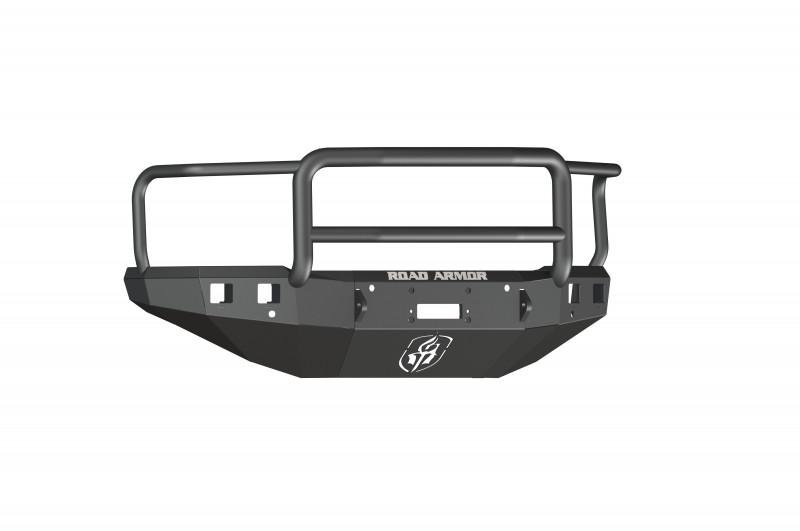 Road Armor Stealth Front Winch Bumper w/ Lonestar Guard - Texture Black | WARN VR12000 (15-19 Chevy 2500/3500)