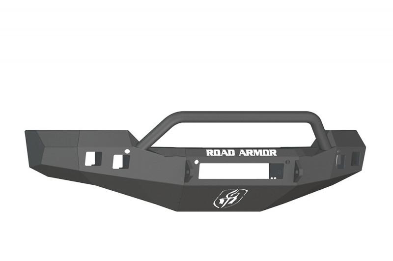 Road Armor Stealth Front Non-Winch Bumper w/ Pre-Runner Guard - Texture Black (16-18 Chevy 1500)