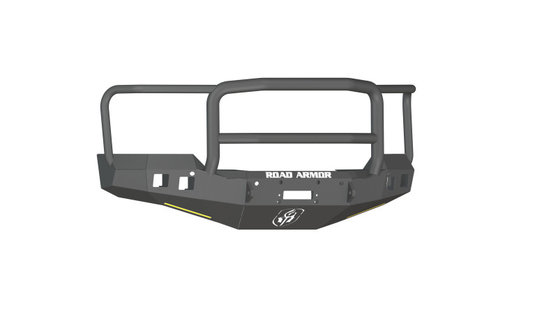 Road Armor Stealth Front Winch Bumper w/ Lonestar Guard - Texture Black | WARN M12000/Smittybilt XRC (16-18 Chevy 1500)