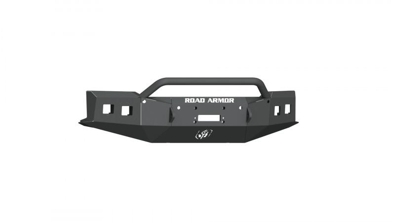 Road Armor Stealth Front Winch Bumper w/ Pre-Runner Guard - Texture Black   WARN ZEON 10S/Smittybilt XRC (19-20 Chevy 1500)