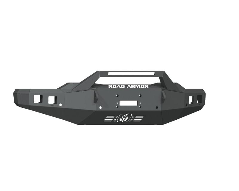 Road Armor Stealth Front Winch Bumper Sheet Metal w/ Pre-Runner Guard - Texture Black | WARN ZEON 10S/Smittybilt XRC (20-21 Chevy 2500HD/3500HD)
