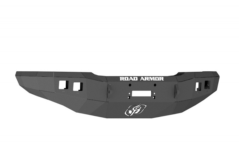 Road Armor Stealth Front Winch Bumper - Texture Black   WARN M12000/Smittybilt XRC (03-07 Chevy 2500/3500)