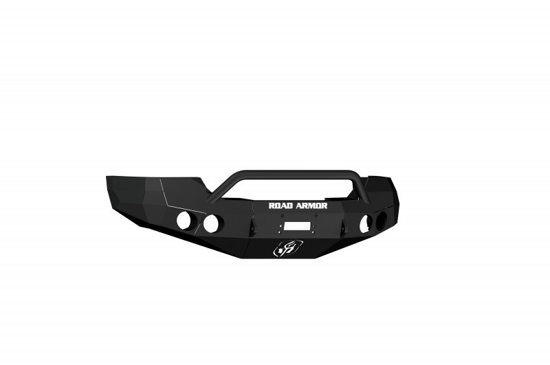 Road Armor Stealth Front Winch Bumper w/ Pre-Runner Guard - Texture Black   WARN M12000/Smittybilt XRC (08-10 GMC 2500/3500)