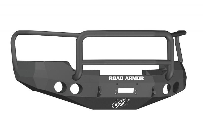 Road Armor Stealth Front Winch Bumper w/ Lonestar Guard - Texture Black | WARN M12000/Smittybilt XRC (08-13 GMC 1500)