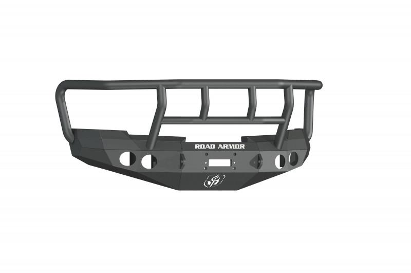 Road Armor Stealth Front Winch Bumper w/ Titan II Guard - Texture Black | WARN M12000/Smittybilt XRC (08-13 Chevy 1500)