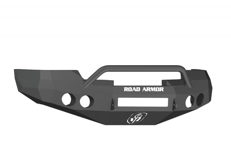 Road Armor Stealth Front Non-Winch Bumper w/ Pre-Runner Guard - Texture Black (08-13 Chevy 1500)