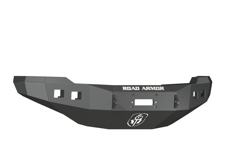 Road Armor Stealth Front Winch Bumper - Texture Black | WARN M12000/Smittybilt XRC (11-14 Chevy 2500/3500)