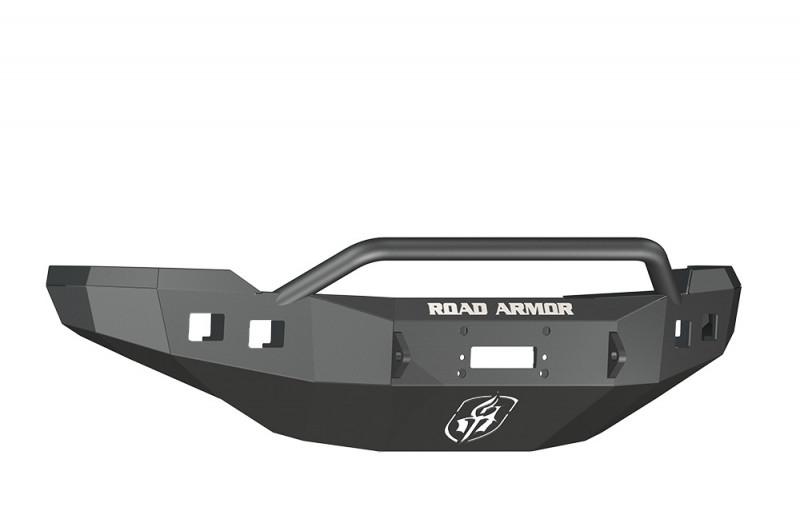 Road Armor Stealth Front Winch Bumper w/ Pre-Runner Guard - Texture Black | WARN M12000/Smittybilt XRC (11-14 Chevy 2500/3500)