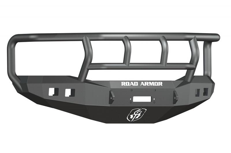 Road Armor Stealth Front Winch Bumper w/ Titan II Guard - Texture Black | WARN M12000/Smittybilt XRC (06-08 Ram 1500)