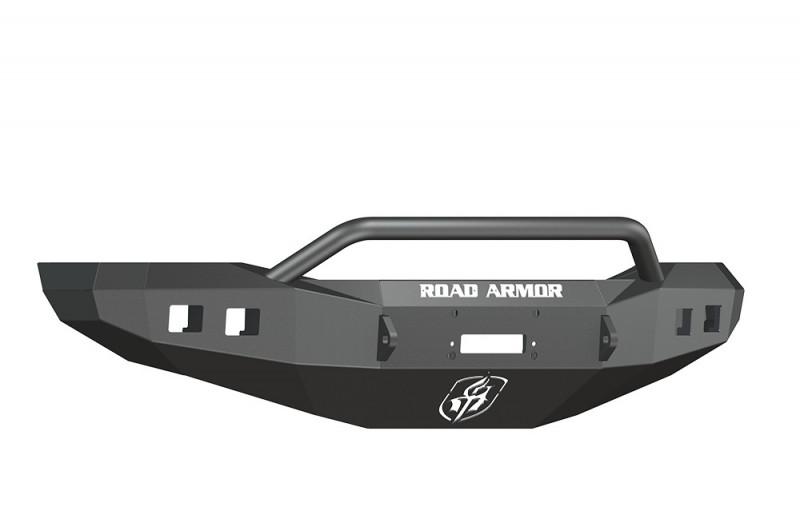 Road Armor Stealth Front Winch Bumper w/ Pre-Runner Guard - Texture Black   WARN M12000/Smittybilt XRC (06-08 Ram 1500)