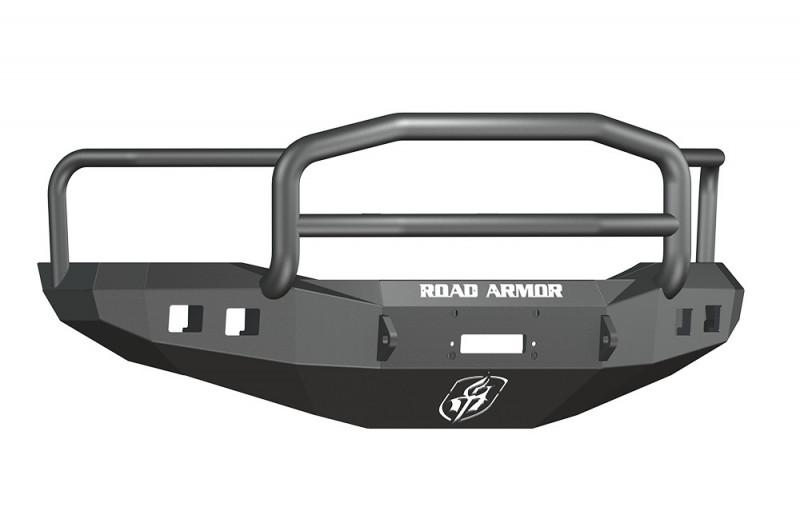 Road Armor Stealth Front Winch Bumper w/ Lonestar Guard - Texture Black | WARN M12000/Smittybilt XRC (06-08 Ram 1500)