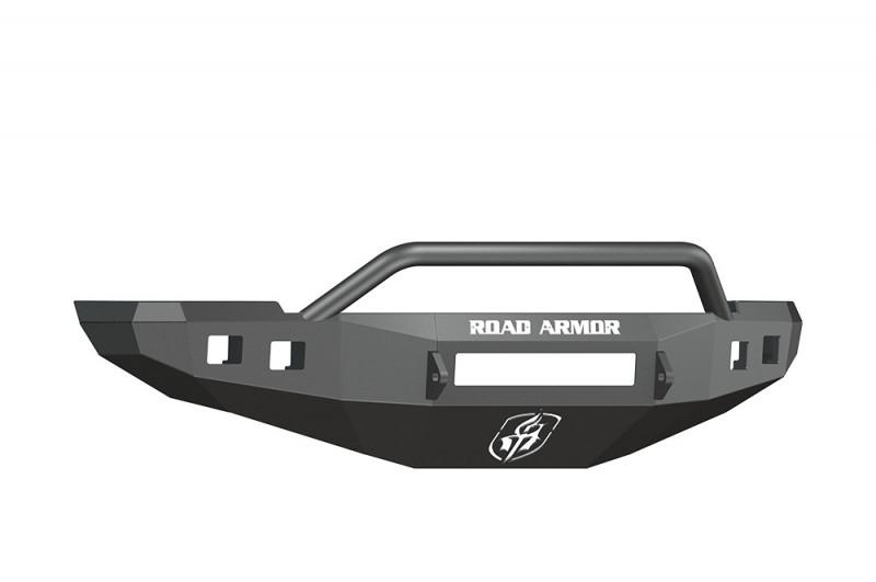 Road Armor Stealth Front Non-Winch Bumper w/ Pre-Runner Guard - Texture Black (10-18 Ram 2500/3500)