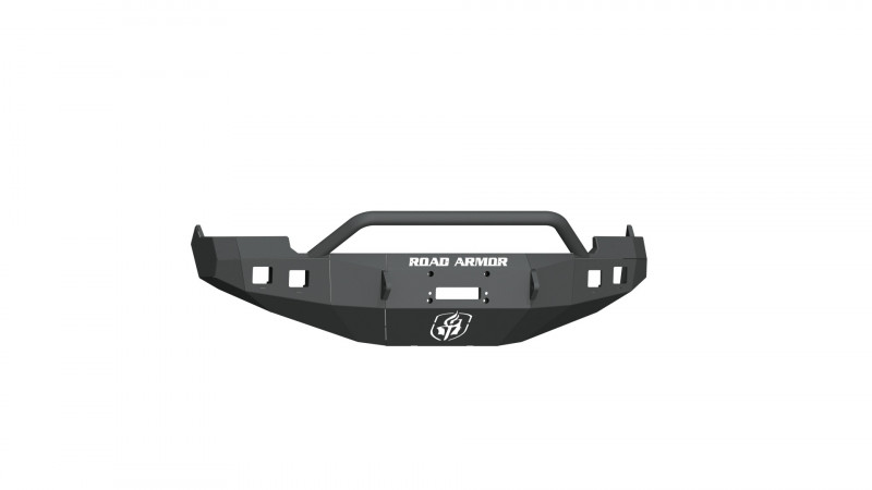 Road Armor Stealth Front Winch Bumper w/ Pre-Runner Guard - Texture Black   WARN M12000/Smittybilt XRC (09-12 Ram 1500)