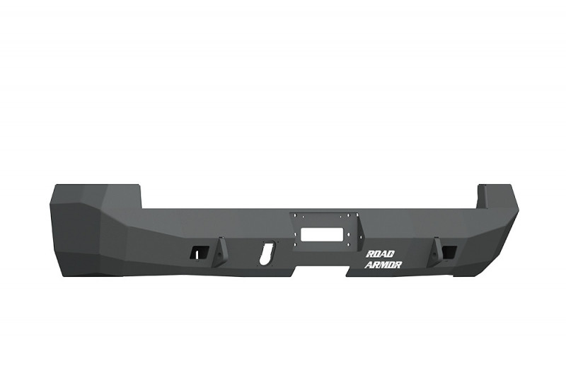 Road Armor  Stealth Rear Winch Bumper for Dually - Texture Black   WARN M8000 Only (10-18 Ram 2500/3500)