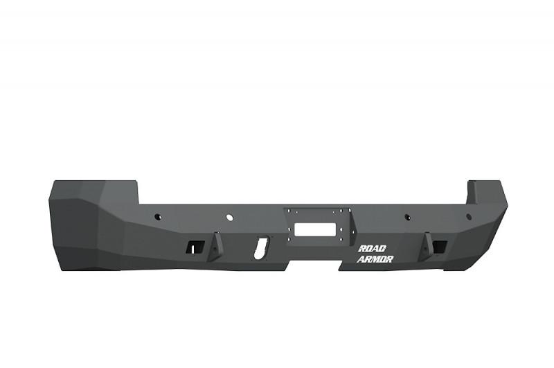 Road Armor  Stealth Rear Winch Bumper w/ Sensor Holes - Texture Black   WARN M8000 Only (10-18 Ram 2500/3500)