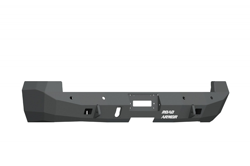 Road Armor  Stealth Rear Winch Bumper w/ Sensor Holes for Dually - Texture Black | WARN M8000 Only (10-18 Ram 2500/3500)