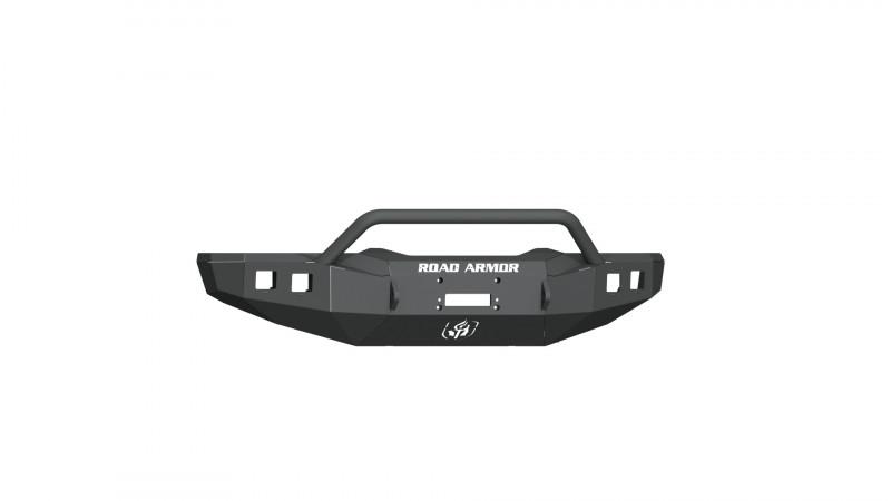 Road Armor Stealth Front Winch Bumper w/ Pre-Runner Guard - Texture Black | WARN M12000/Smittybilt XRC (15-18 Ram 1500 Rebel)