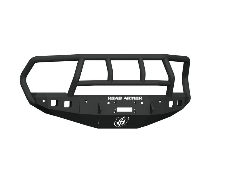 Road Armor Stealth Front Winch Bumper w/ Titan II Guard & 6 Sensor Holes - Texture Black | WARN M12000/Smittybilt XRC (16-18 Ram 2500/3500)