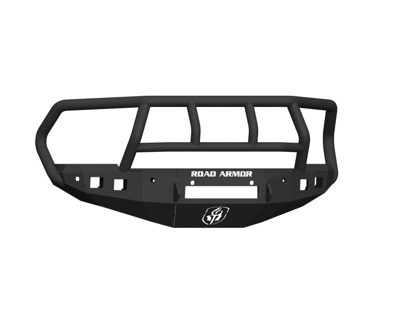 Road Armor Stealth Front Non-Winch Bumper w/ Titan II Guard & 6 Sensor Holes - Texture Black (16-18 Ram 2500/3500)