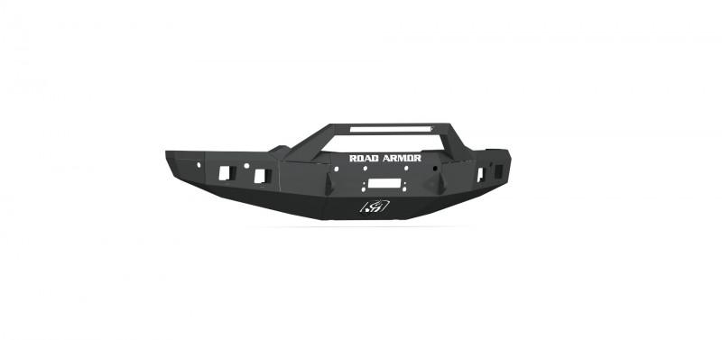 Road Armor Stealth Front Winch Bumper Sheet Metal w/ Pre-Runner Guard - Texture Black   WARN ZEON 10S/Smittybilt XRC (19-20 Ram 1500)