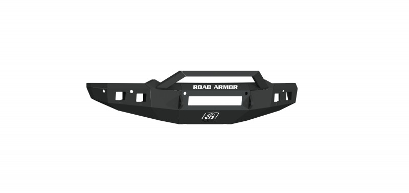 Road Armor Stealth Front Non-Winch Bumper Sheet Metal w/ Pre-Runner Guard - Texture Black (19-20 Ram 1500)