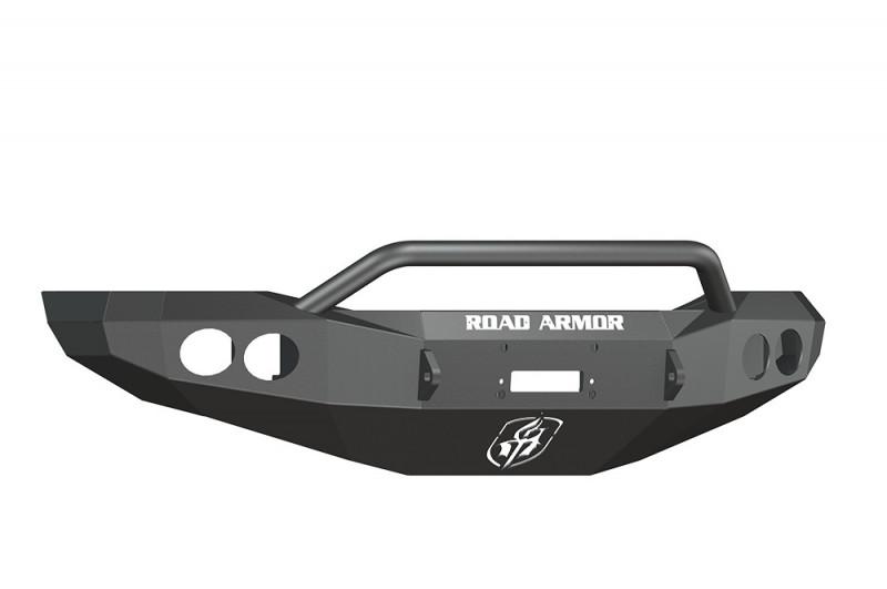Road Armor Stealth Front Winch Bumper w/ Pre-Runner Guard - Texture Black | WARN M12000/Smittybilt XRC (06-09 Ram 2500/3500)