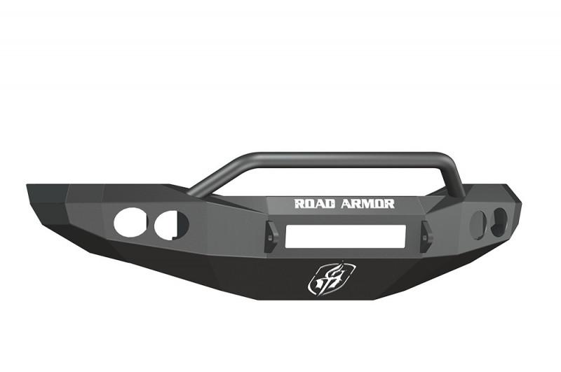 Road Armor Stealth Front Non-Winch Bumper w/ Pre-Runner Guard - Texture Black (06-08 Ram 1500)