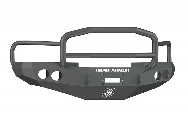 Road Armor Stealth Front Winch Bumper w/ Lonestar Guard - Texture Black   WARN M12000/Smittybilt XRC (94-96 Ram 1500/2500/3500)