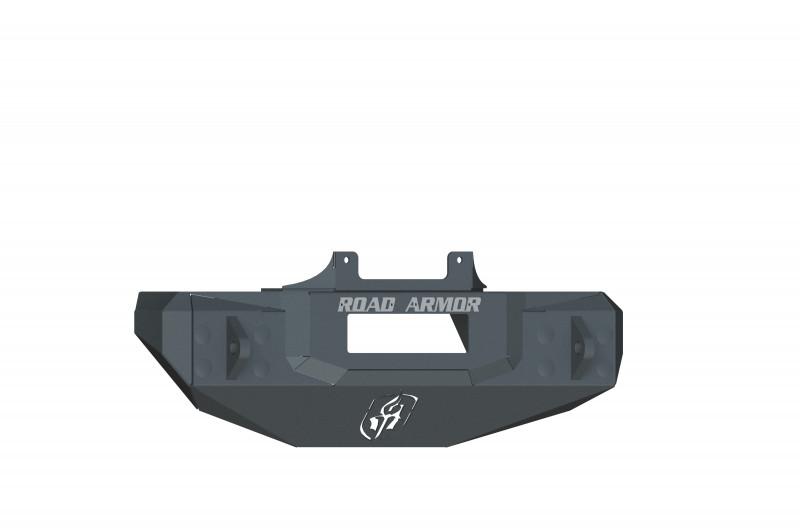Road Armor Stealth Stubby Front Winch Bumper - Texture Black   WARN PowerPlant (07-18 Jeep Wrangler JK/JKU)